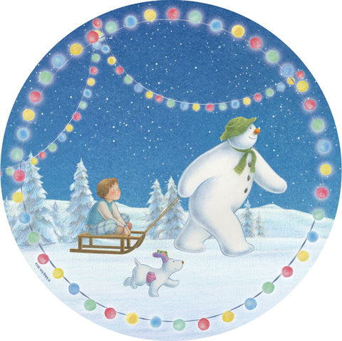 The Snowman + Dog Dinner Plate X 8 Pc016Di