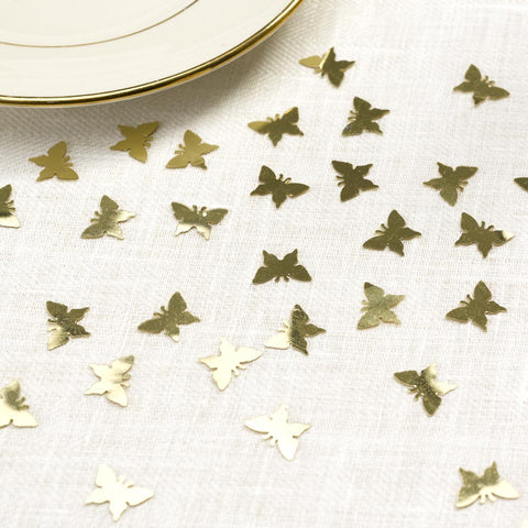 Gold Butterfly Wedding Confetti Table Decoration 3D