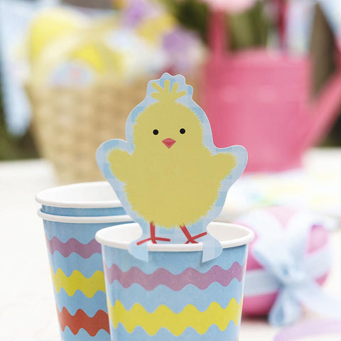 Easter Chick Glass Decoration