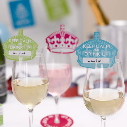 Keep Calm And Drink Up Place Cards For Glass