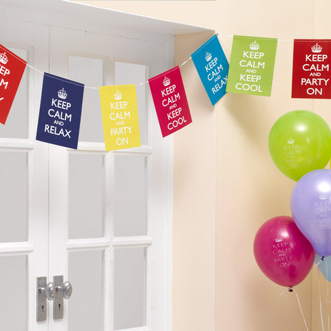 Keep Calm And Party On Bunting 3.5 Meters