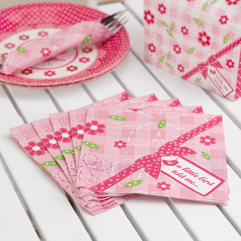 Napkins X20 Birthday Party Girls Little Bird Tableware