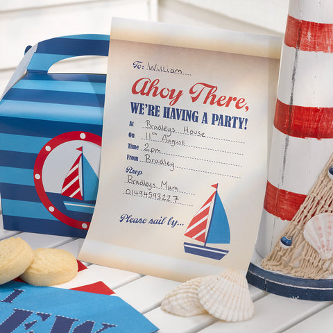 Ahoy There Party Invitations