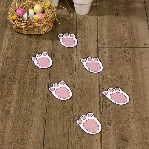 Easter egg hunt - bunny rabbit footprints