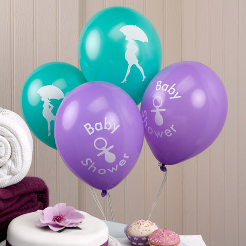 Showered With Love Balloons [8] Baby Shower Party Supplies, Latex, Unisex
