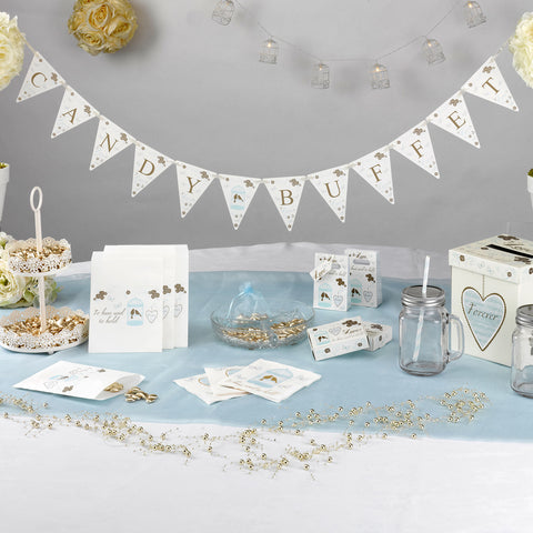 Wedding Candy Buffet Banner Married Bunting Decorations Supplies Party