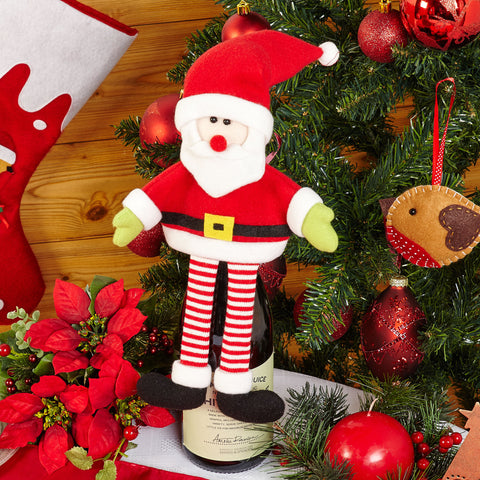Luxury Santa Father Christmas Bottle Wine Drink Topper Gift Party .
