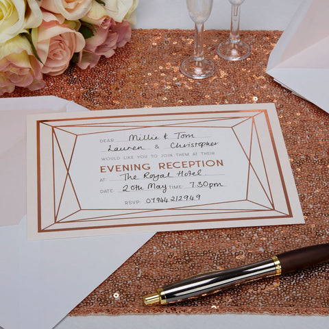 Geo Blush Evening Invitations