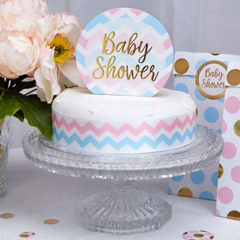 Pattern Works Cake Topper Baby Shower
