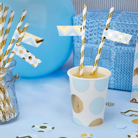 Pattern Works Blue 30 X Straw Flags