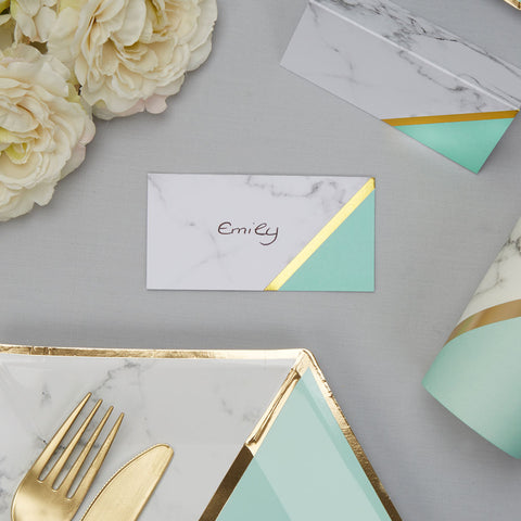 Colour Block Place Cards Mint 10