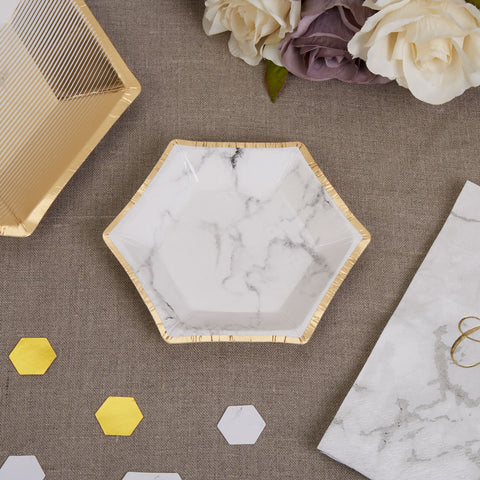 Scripted Marble Plate Small 8 Pack