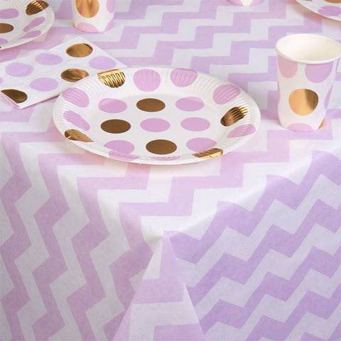 Pattern Works Tablecloth Lilac Chevrons