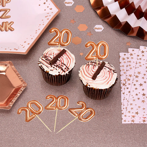 Glitz & Glamour Food Picks 20 Rose Gold