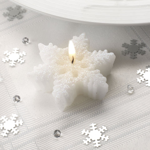 Shimmering Snowflake Candles