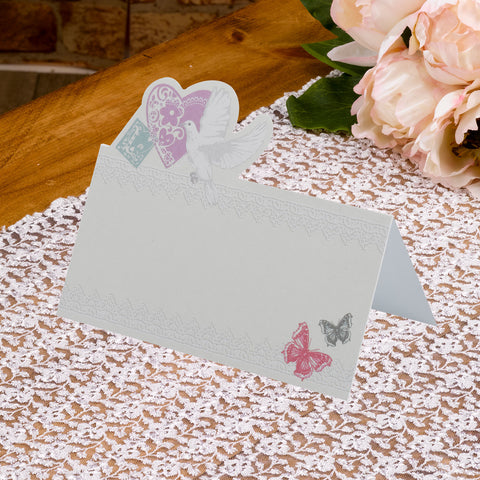 With Love Wedding Table Place Cards Pack Of 50