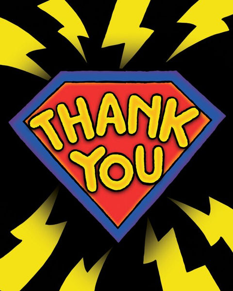 Super Hero Fun 3D Thank-You Notes