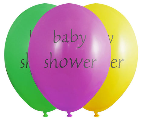 Assorted Baby Shower Latex Balloons - Pack Of 6