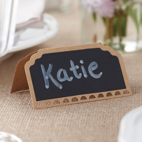 Vintage Affair Place Cards Chalkboard Kraft 10 pack