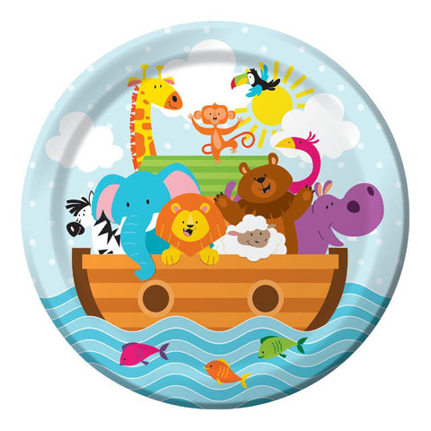 Baby Shower Noahs Ark Paper Plates Tableware Pack Of 8 Party Supplies