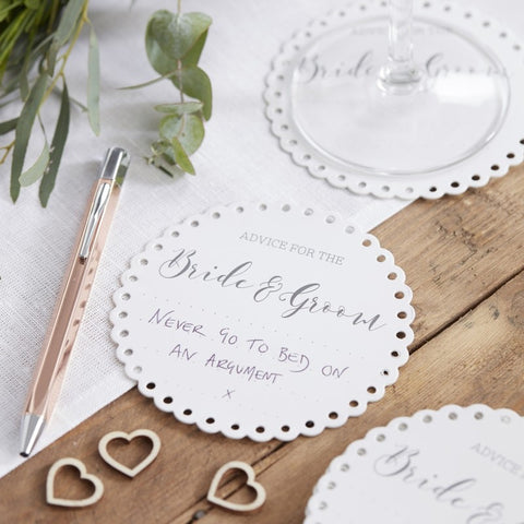 Advice for the Bride & Groom Coasters Beautiful Botanics