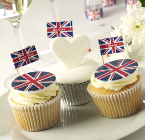 Celebrate Britain Cupcake Sticks 20 Pack