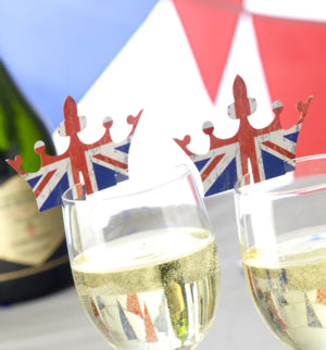 Celebrate Britain Crown Glass Decoration 10 Pack