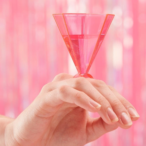 Pink Ring Party Shot Glasses - Bride Tribe