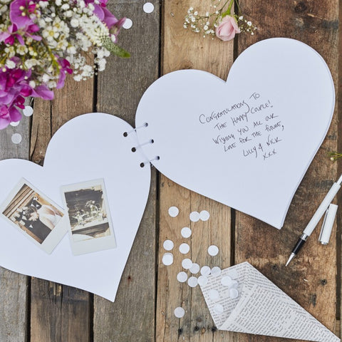 Rustic Country Guestbook Kraft