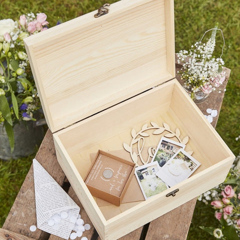 Rustic Country Memory Box Wooden