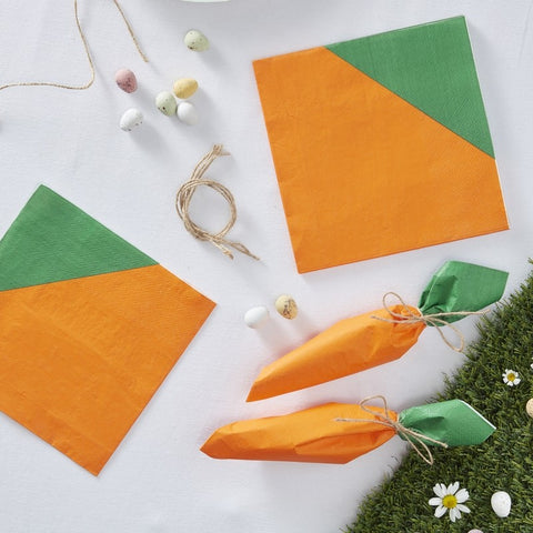 Easter Carrot Napkins