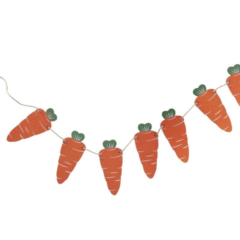 Carrots Wooden Bunting