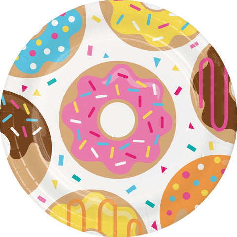 "Donut Time 9"" Lunch Plates (8 Count)"
