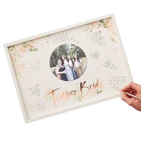 Hen Party Frame Guest Book - Floral Hen