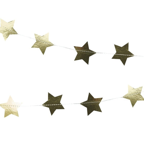 Gold Foiled Star Garland