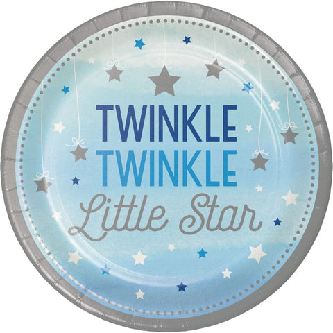 "1St (Age 1) Birthday Party Blue ""Twinkle Little Star"" Cake Lunch Dinner Plates"