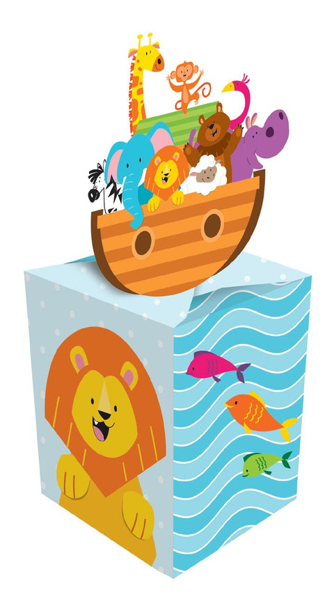 Girl / Boy Baby Shower Party Supplies Noah\'S Ark Treat Favor Boxes / Decorations
