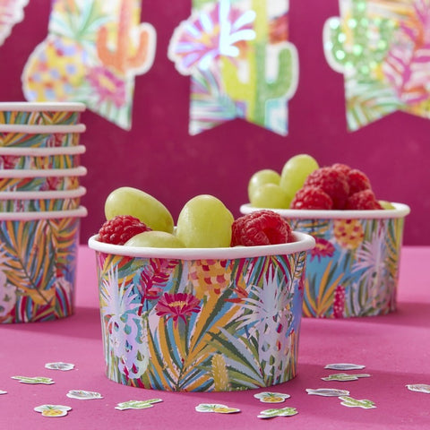 Iridescent Pineapple Treat Ice Cream Tubs - Hot Summer