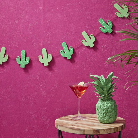 Wooden Cactus Summer Bunting - Hot Summer