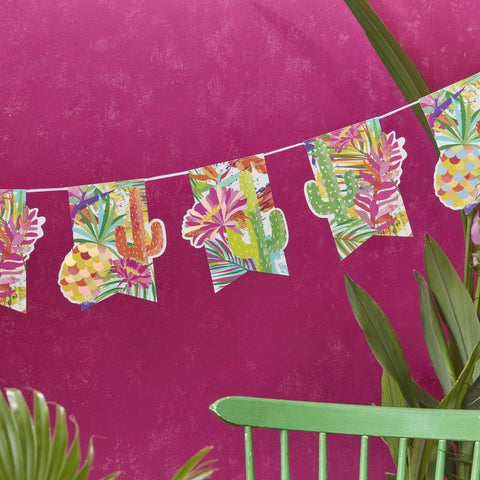 Iridescent Foiled Paper Bunting - Hot Summer