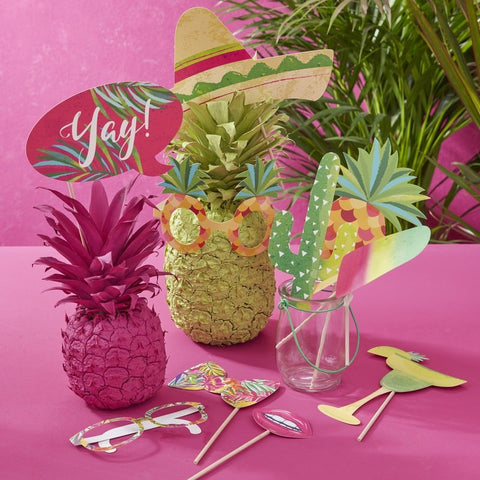 Tropical Photo Booth Props - Hot Summer