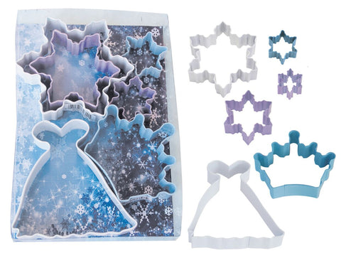 Snow Queen Cookie Cutters 6Pc Set