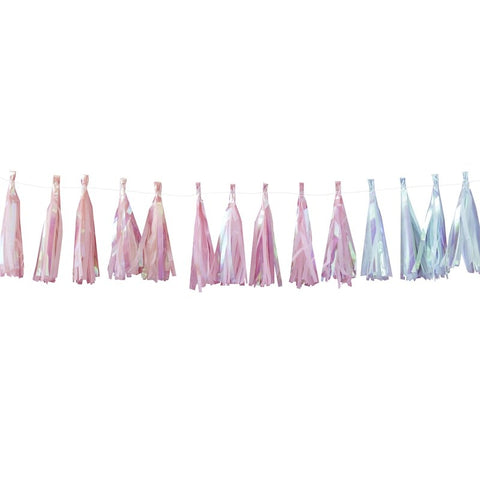 Iridescent Party Tassel Garland Iridescent Pastel