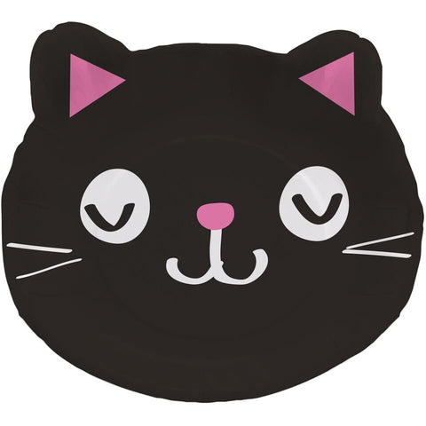 Purrfect Party Dinner Plates Shaped