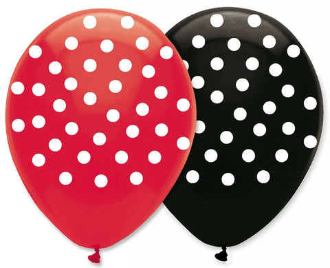 Creative Converting Ladybug Fancy 6 Count Latex Balloons, 12-Inch
