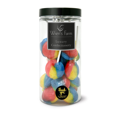 Tutti Fruity Lollipops Sweet Jar