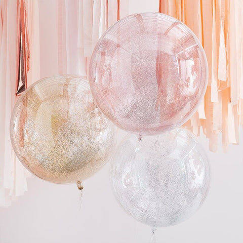 Mixed Metallic Orb Glitter Balloons