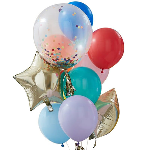Rainbow Party Mixed Balloon Bundle Pack