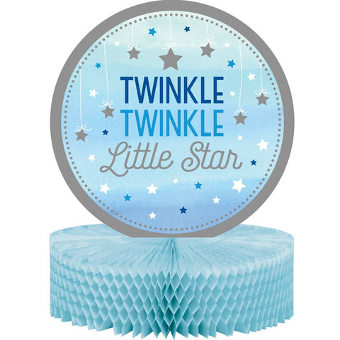 "1St (Age 1) Birthday Party Blue ""Twinkle Little Star"" Centerpiece Decoration"