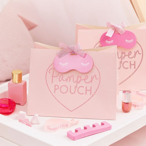 Pink Glitter Pamper Pouch Pamper Party Bag